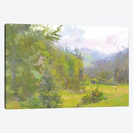 Green Hue Canvas Print #YPR263} by Yuri Pysar Canvas Art