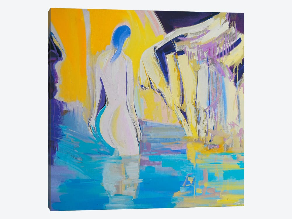Night Bathing by Yuri Pysar 1-piece Canvas Art Print
