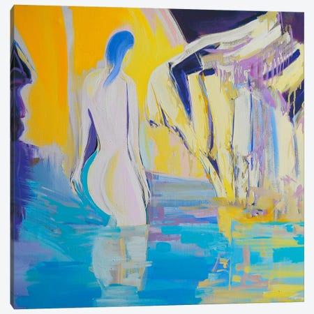 Night Bathing Canvas Print #YPR29} by Yuri Pysar Canvas Print
