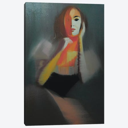 Giselle's Portrait Canvas Print #YPR51} by Yuri Pysar Canvas Art