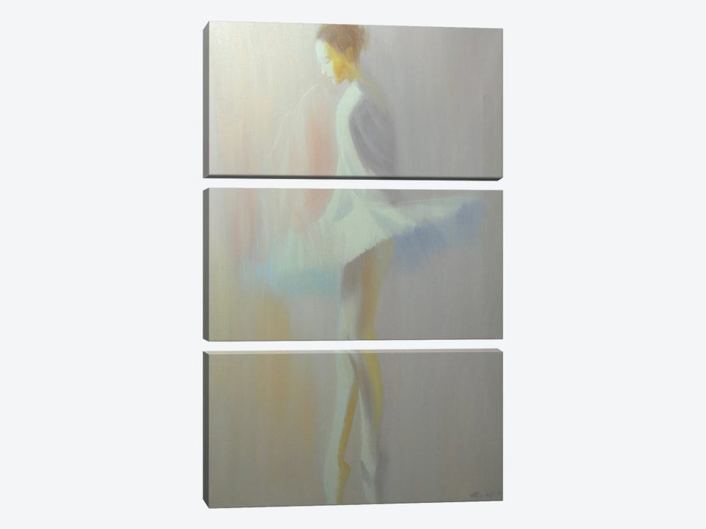 Morning White by Yuri Pysar 3-piece Canvas Print