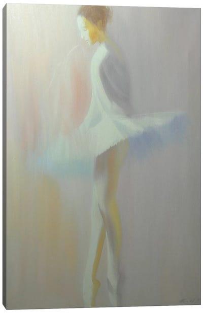 Morning White Canvas Art Print