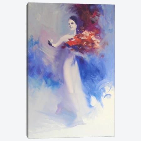 Bouquet of Flowers Canvas Print #YPR71} by Yuri Pysar Canvas Artwork