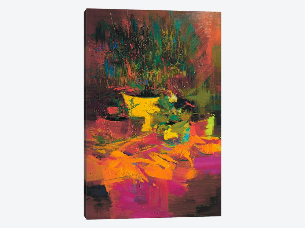 Warm Flowers by Yuri Pysar 1-piece Canvas Art