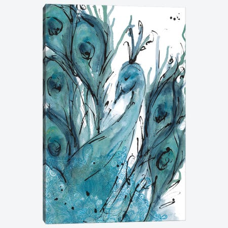 Plumes Of The Peacock I Canvas Print #YSA21} by Yvette St.Amant Canvas Artwork