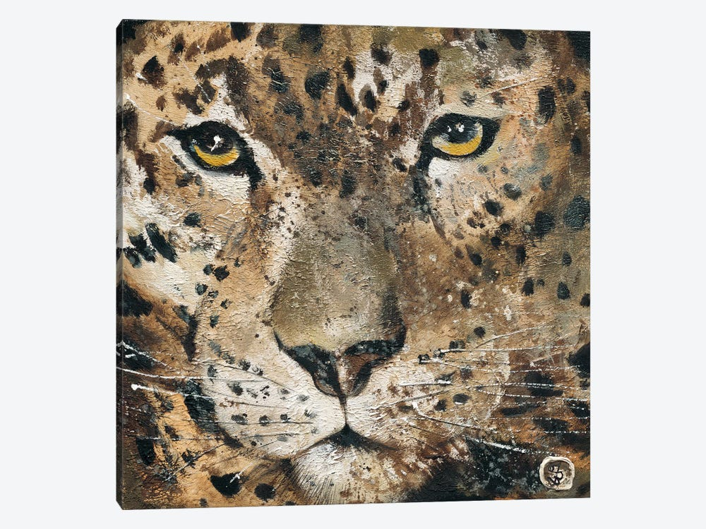 Leopard by Yuliya Volynets 1-piece Canvas Art