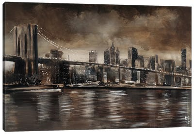 NY Brooklyn Bridge Canvas Art Print