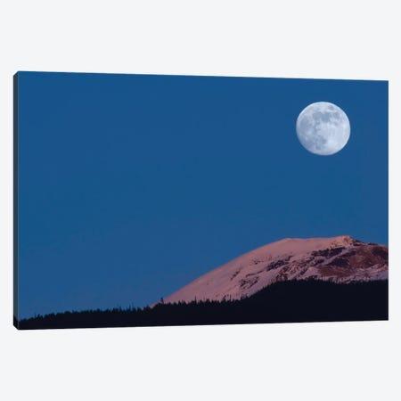 Full Moon At Alpenglow. Canvas Print #YUT11} by Yuichi Takasaka Canvas Art
