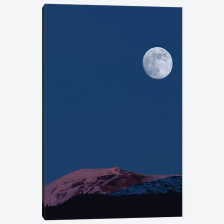 Full Moon At Alpenglow. Canvas Print #YUT13} by Yuichi Takasaka Canvas Wall Art