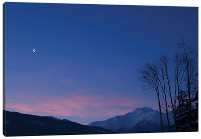 Moon At Dawn. Canvas Art Print