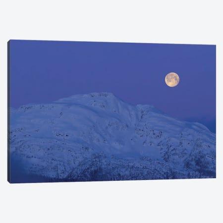 Moonset At Dawn. Canvas Print #YUT26} by Yuichi Takasaka Canvas Artwork