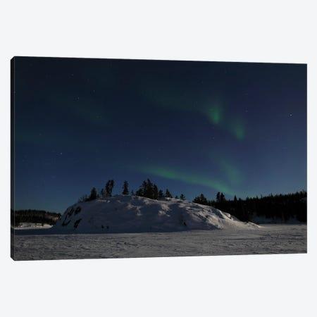 Aurora Over Vee Lake, Yellowknife, Northwest Territories, Canada. Canvas Print #YUT8} by Yuichi Takasaka Canvas Art