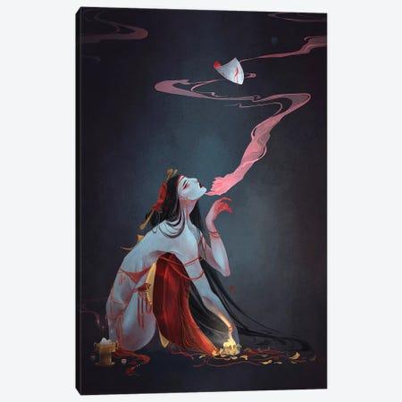 Forbidden Prayer Canvas Print #YYU10} by Art of Yayu Art Print