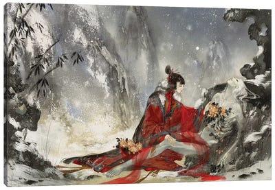I'm In Love IV: Winter Canvas Art Print