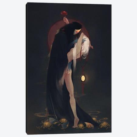 Into The Shadows Canvas Print #YYU16} by Art of Yayu Canvas Wall Art
