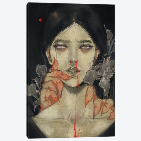 Iris Of Iris Canvas Print #YYU17} by Art of Yayu Canvas Art
