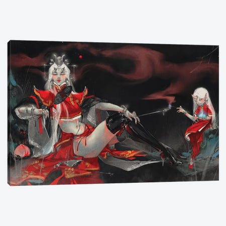 Queen Canvas Print #YYU24} by Art of Yayu Canvas Print