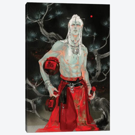 Sins V: Gluttony Canvas Print #YYU31} by Art of Yayu Canvas Art Print