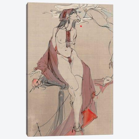 Sorrow Canvas Print #YYU34} by Art of Yayu Canvas Artwork