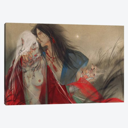 Whisper Canvas Print #YYU38} by Art of Yayu Art Print