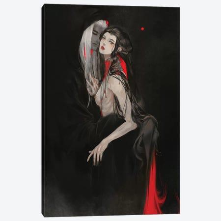 Beautiful In Red Canvas Print #YYU5} by Art of Yayu Canvas Artwork