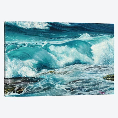 Waves Canvas Print #YZG17} by Yue Zeng Canvas Wall Art