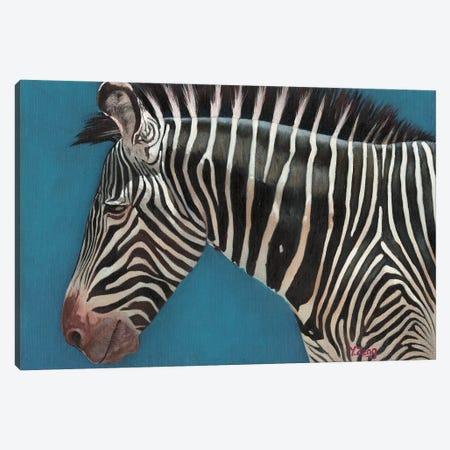 Zebra Profile Canvas Print #YZG18} by Yue Zeng Canvas Print
