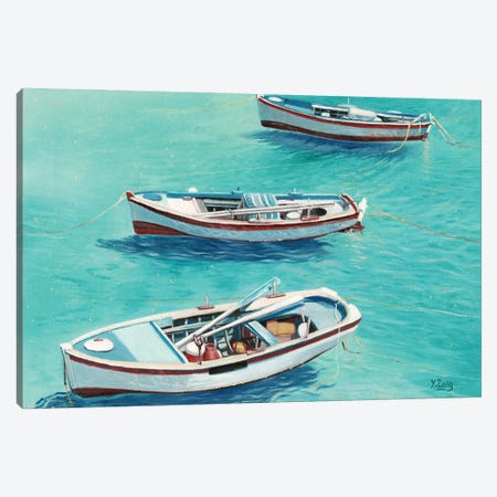 3 Boats Canvas Print #YZG1} by Yue Zeng Art Print