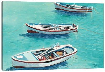 3 Boats Canvas Art Print