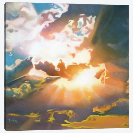 Sunbeam Through Clouds Canvas Print #YZG21} by Yue Zeng Canvas Artwork