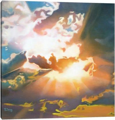 Sunbeam Through Clouds Canvas Art Print