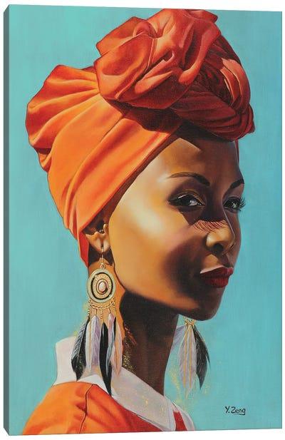 African Female Portrait Canvas Art Print