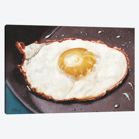 One Fried Egg Canvas Print #YZG24} by Yue Zeng Canvas Print