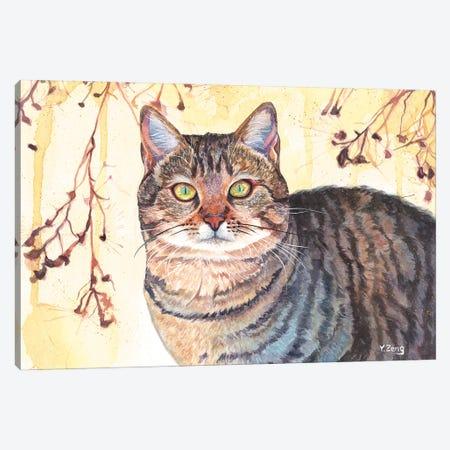 Cat Portrait Canvas Print #YZG26} by Yue Zeng Canvas Print