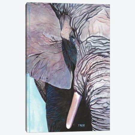 Elephant Portrait Canvas Print #YZG27} by Yue Zeng Canvas Art Print