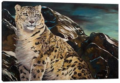 Mountain Spirit Snow Leopard Canvas Art Print