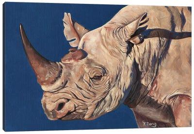 Rhino Portrait Canvas Art Print