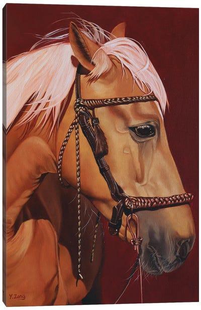 Horse Profile Canvas Art Print