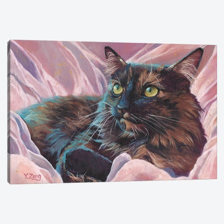 Naomi Pet Portrait Canvas Print #YZG49} by Yue Zeng Canvas Wall Art