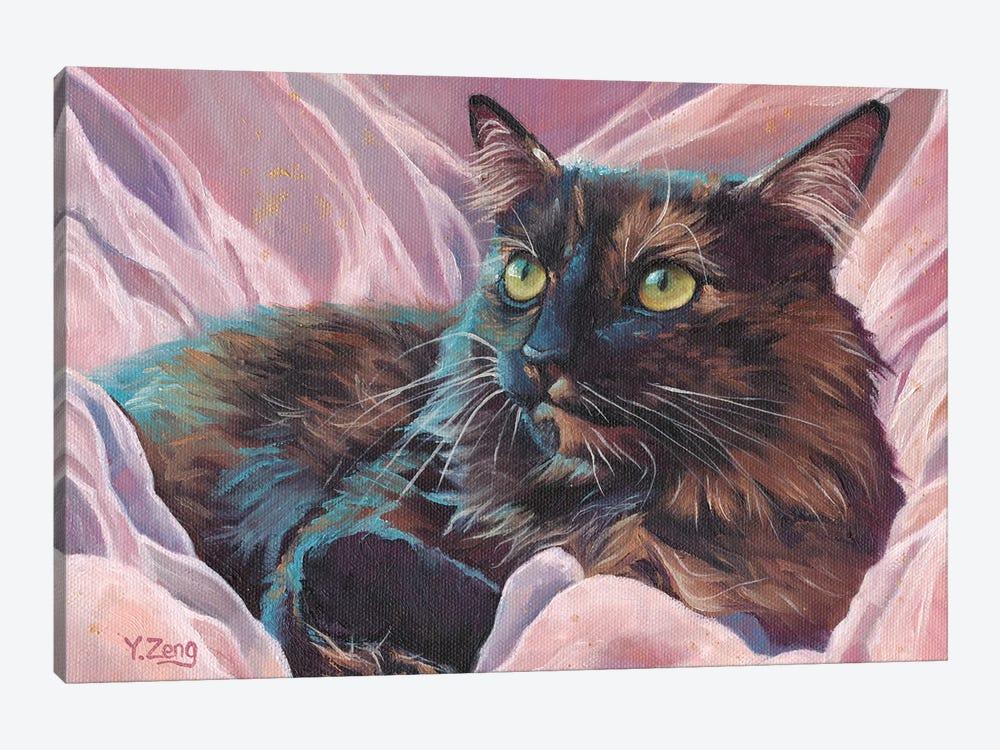 Naomi Pet Portrait by Yue Zeng 1-piece Canvas Art Print
