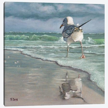 Beach Walking Canvas Print #YZG4} by Yue Zeng Canvas Wall Art