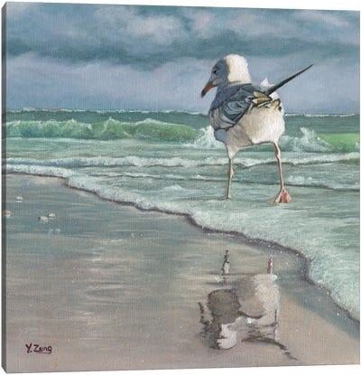 Beach Walking Canvas Art Print