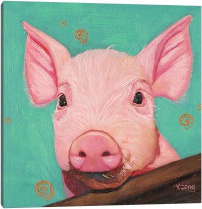 Pink Piggy Canvas Art Print