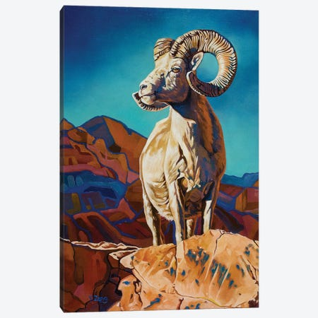 Mountain Pride Big Horn Sheep Canvas Print #YZG52} by Yue Zeng Canvas Print