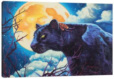 Night Watcher Black Panther Canvas Art Print
