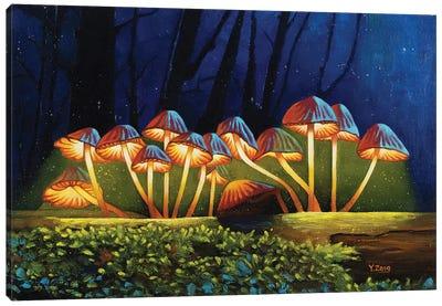 Nightlights Glowing Mushrooms Canvas Art Print