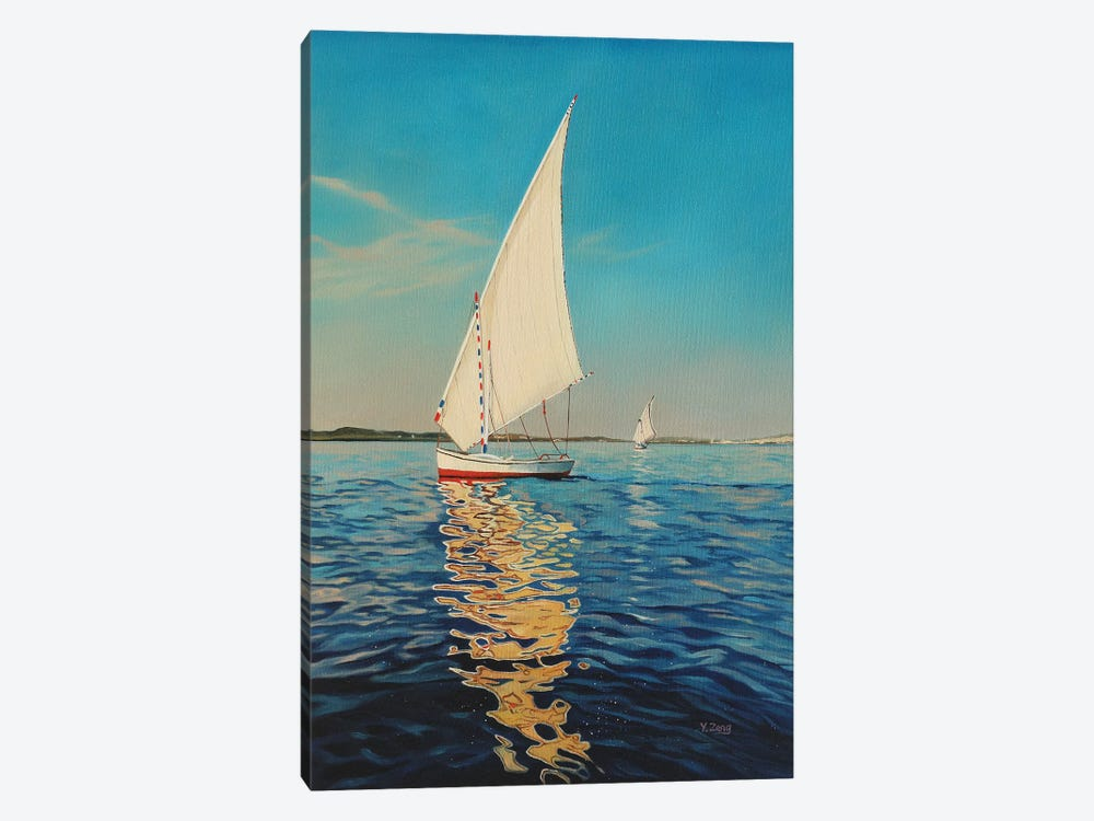 Sail Boat by Yue Zeng 1-piece Canvas Artwork