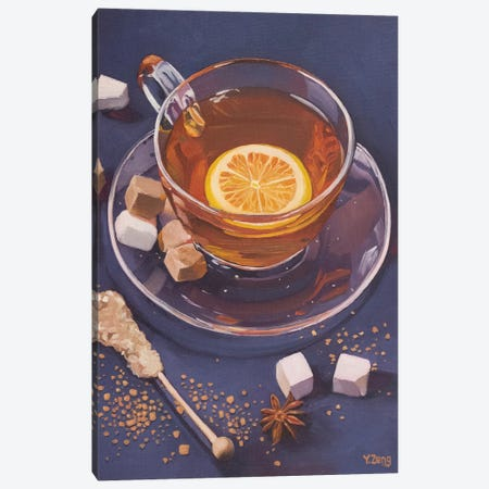 Lemon Tea And Sugar Cubes Canvas Print #YZG67} by Yue Zeng Canvas Art Print