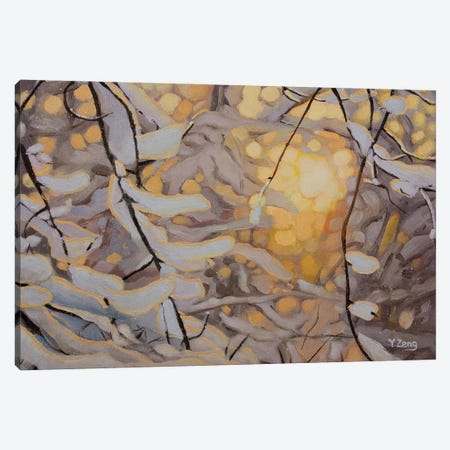Snowy Sunset Canvas Print #YZG69} by Yue Zeng Canvas Artwork