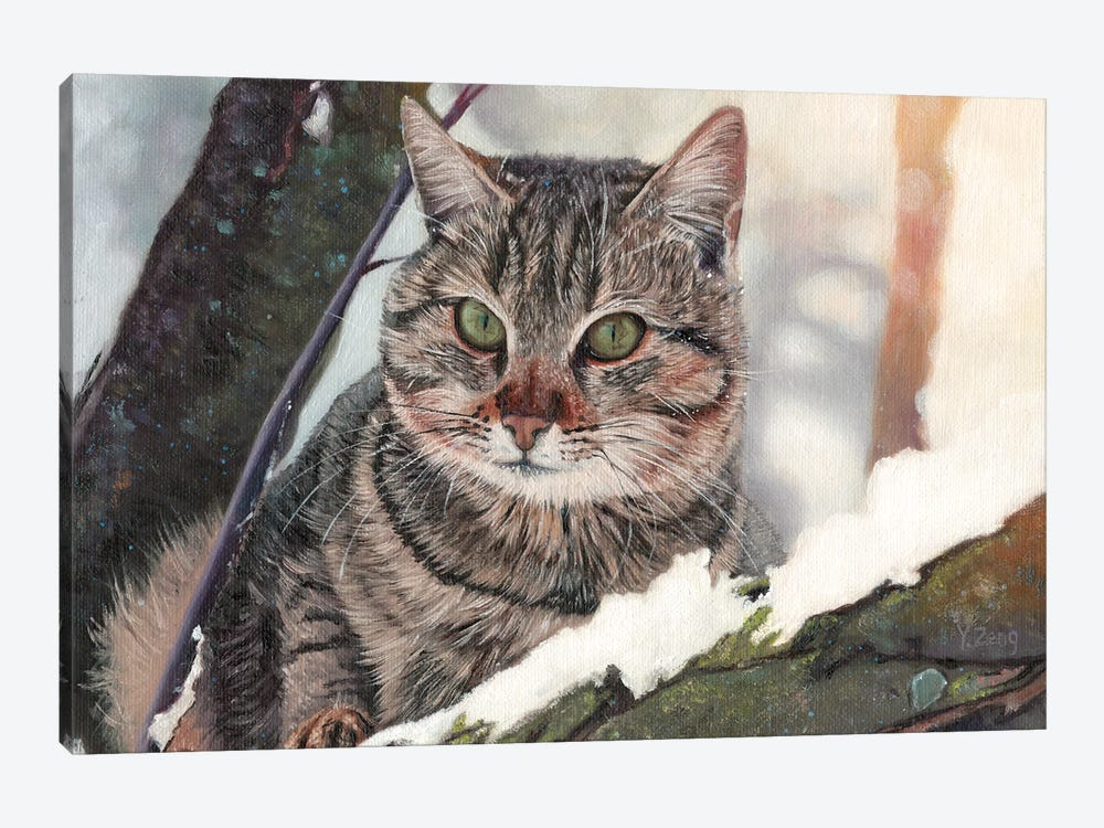 Cat In The Tree by Yue Zeng 1-piece Canvas Artwork